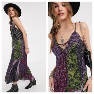 NWOT Free People Maxi Dress 😍🦄🦋💐🌚L